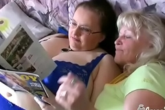 Ancient Blonde Granny And Busty BBW MILF Are Lesbians