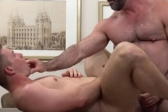 Mormon elder tugs spunk fountain