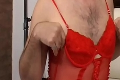 This is my first time carnal photographed greatest extent crossdressing