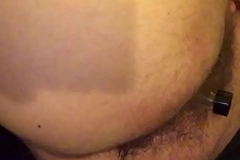 Hairy anal toying