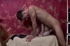 Corporeality twink toys cock increased by wanks solo