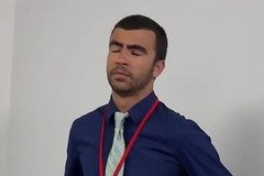 Office stud buttfucked chit acting noontide