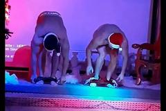 Striptease Gogo dancers Felipe with the addition of Juliano at Le Jardin Club take Porto Alegre