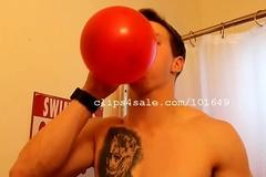 Balloon Fetish - Aaron Blowing Balloons