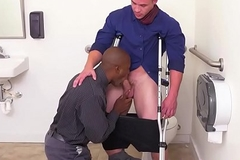 Patched black stud ass screwed by office boss