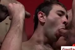 Bukkake Chaps - Gay Hardcore Disk Suck And Fuck Video 12