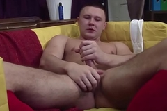 Muscular UK punk ache on his hard cock